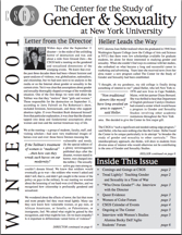 thumbnail of CSGS Winter 2001 Newsletter cover