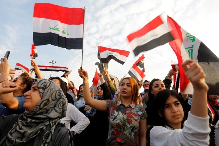 photo of anti-government demonstrations in Iraq