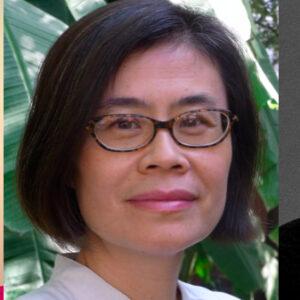 portraits of Rana Nashashibi, Yun Pang, and Andrea Recarte