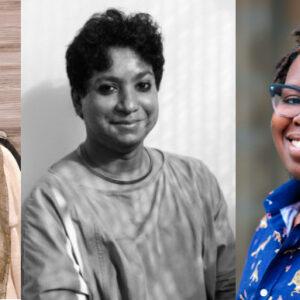 portraits of Sayan Bhattacharya, Anindya Hajra and C. Riley Snorton